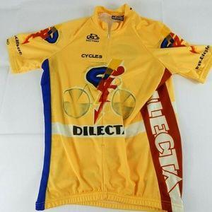 Pactimo Men's Medium Yellow Cycling Bike Jersey